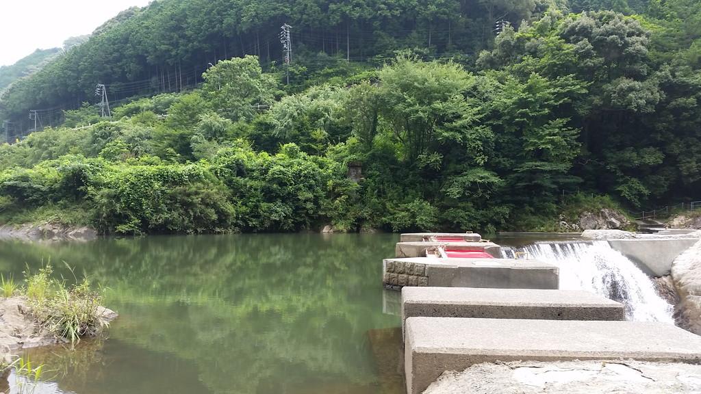 長篠堰堤ダム湖
