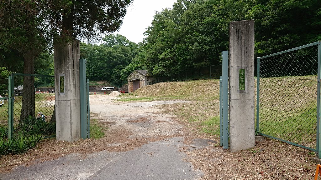 馬ケ城ダム入り口